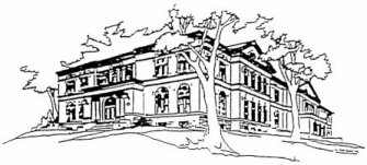 Line drawing of Andrew Carnegie Free Library & Music Hall